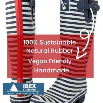 Photo of Evercreatures Wellington boots showing features