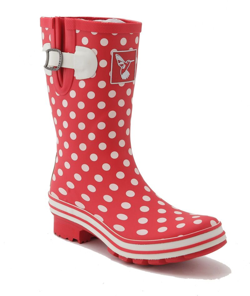 Evercreatures Womens Polka Dot  Short Wellington Boots Wellies