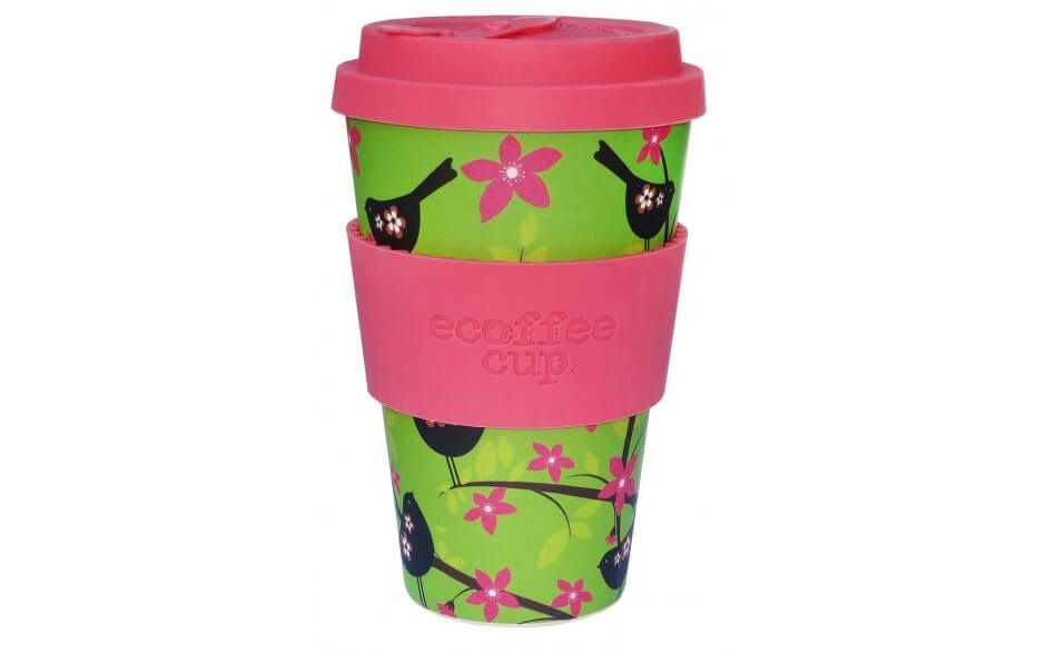 Ecoffee Reusable Cup - WiddleBirdy  14oz - Naturally Organic Bamboo