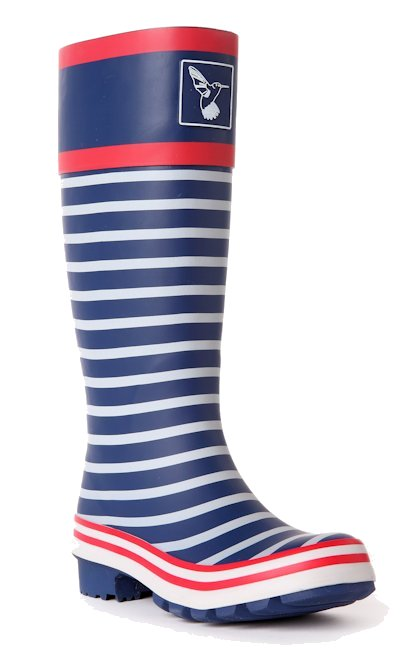 Evercreatures Womens In the Navy Wellington Boots Funky Wellies