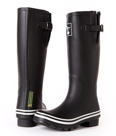Evercreatures Womens Plain Black Tall Wellington Boots