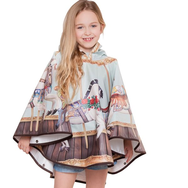 FieldCandy Designer Kids  Poncho -  Hold your Horses