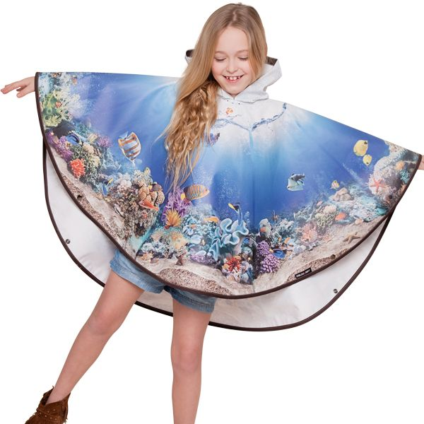 FieldCandy Designer Kids  Poncho -  Something Fishy