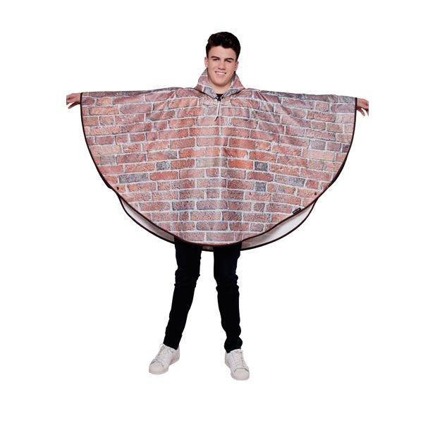 FieldCandy Designer Poncho -Bricks & Mortar