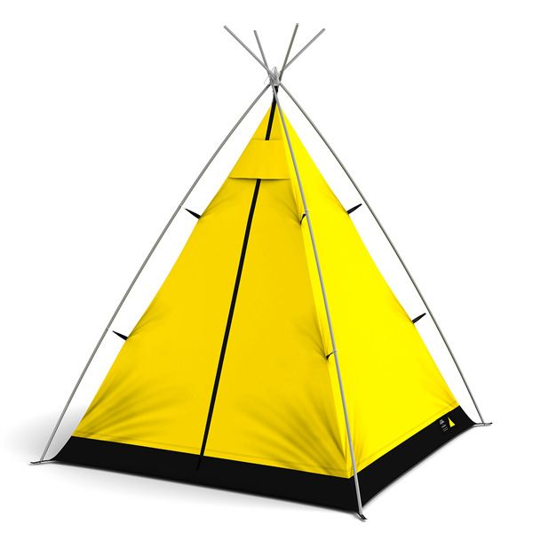 FieldCandy Little Campers Mellow Yellow Tent Childrens Teepee