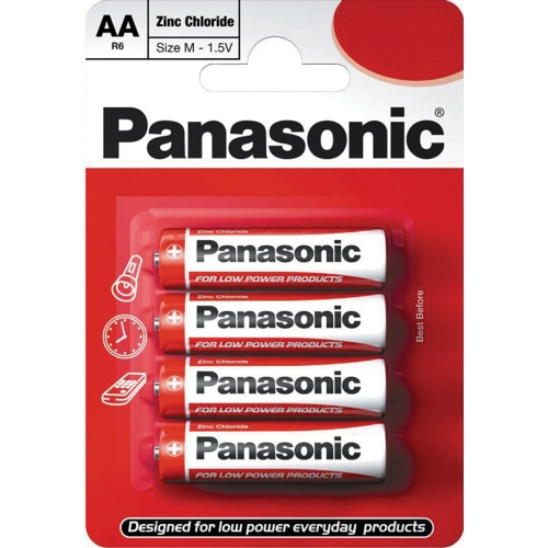 Panasonic AA Zinc Carbon Battery - Pack of 4 Batteries