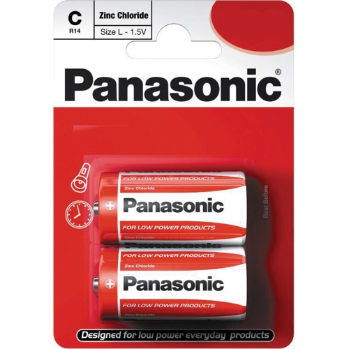 Panasonic C Zinc Carbon Battery - Pack of 2 Batteries