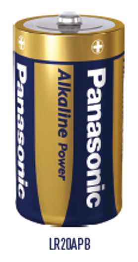 Panasonic D Alkaline Battery pack of 2 Batteries