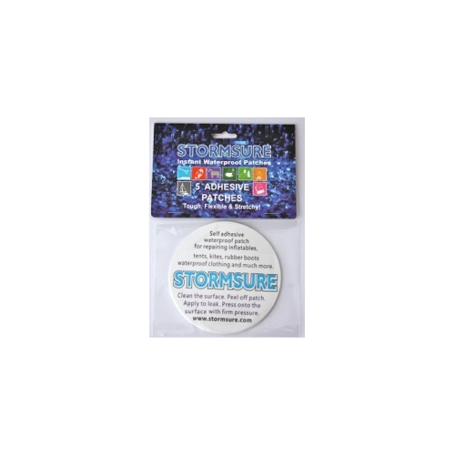 Stormsure 5 x 75mm Self Adhesive Waterproof Tuff Patches