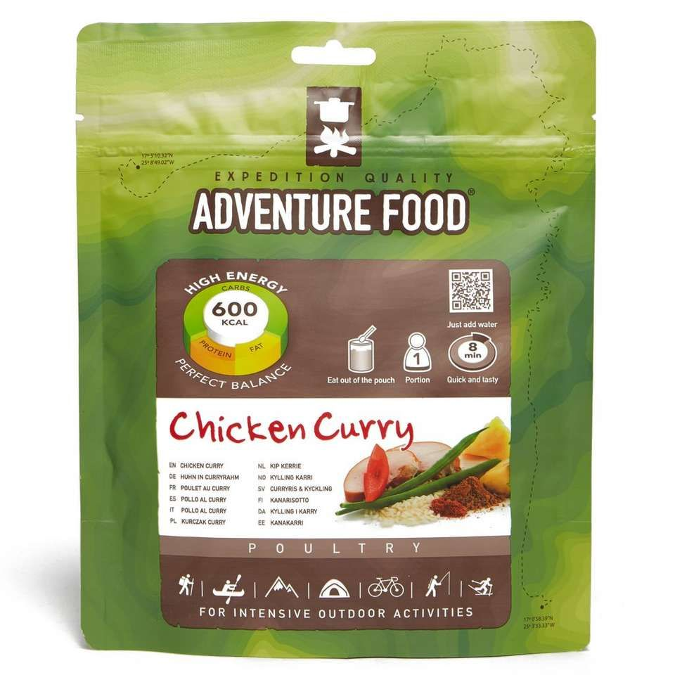 Trekmates Adventure Food Chicken Curry High Energy Meal 600Kcal